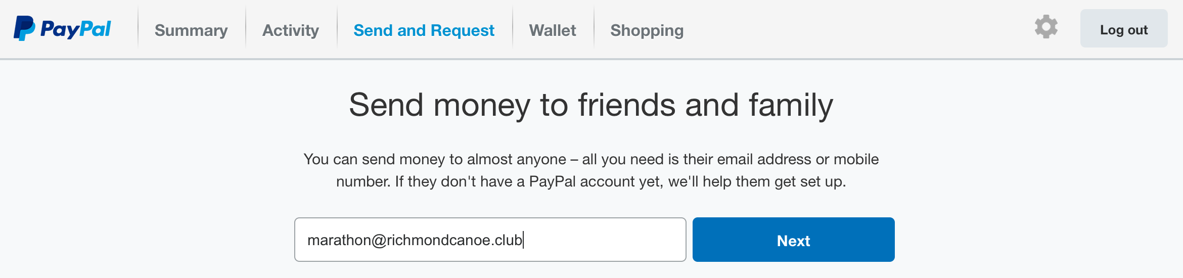 Richmond Canoe Club » Paying race fees using PayPal